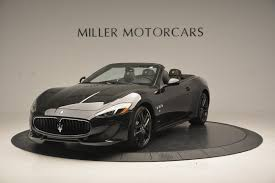 maserati black 2017 2017 maserati granturismo convertible sport stock m1632 for sale