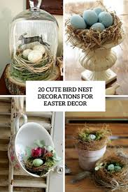 Easter Decorations For The Home by 20 Cute Bird Nest Decorations For Easter Décor Shelterness