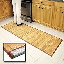 amazon com bamboo floor mat 24 x 72 kitchen mats kitchen