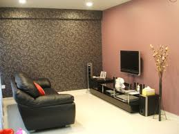 living cream and brown living room ideas tv wall two tone paint