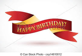 happy birthday ribbon happy birthday waving ribbon banner illustration design