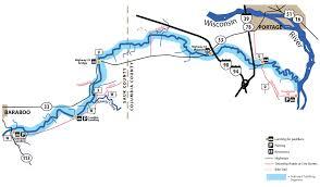 Wisconsin Road Map Glenville Landing To Wisconsin River U2013 John Exo