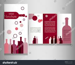 wine card restaurant brochure design flyer stock vector 151131602