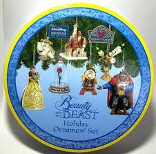 and the beast ornament set from our jim shore