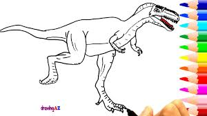 albertosaurus coloring pages for kids drawing and coloring