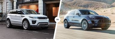 land wind vs land rover range rover evoque vs porsche macan suv smash carwow
