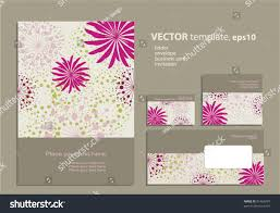 vector template business artworks folder business stock vector