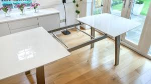 Extending Dining Table And 6 Chairs Danetti White Gloss Extending Table Massimo Extending White Glass