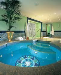 wonderful privat indoor swimming pool design with ornamental