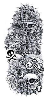 collection of 25 roses and skull snake tattoos sketch