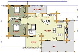 log cabin plan log home and log cabin floor plans between 1500 3000 square