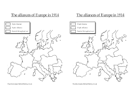 Blank Map Of Europe 1914 by 13 Best Images Of World War I Map Worksheet World War 1914