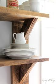 Reclaimed Wood Shelves by Keeping It Cozy Reclaimed Wood Kitchen Shelves