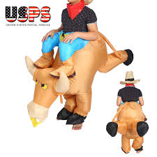 Inflatable Halloween Costumes Inflatable Bull Animal Riding Unisex Halloween Costume Fancy