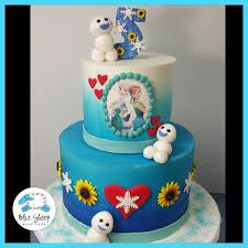 frozen birthday cake frozen fever cake blue sheep bake shop