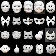 unpainted masks unpainted white paper various animal woman masquerade masks