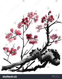 Japanese Cherry Blossom Tree by Realistic Sakura Blossom Japanese Cherry Tree Stock Vector