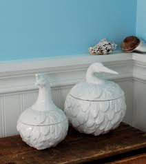 feathered nest heron ceramic kitchen canisters hottt com