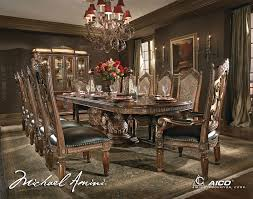 michael amini dining room buy villa valencia dining room set by aico from www mmfurniture com