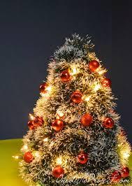 Mini Christmas Tree Crafts - diy wire hanger christmas tree tutorial