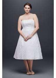 soutache lace tea length plus size wedding dress david u0027s bridal