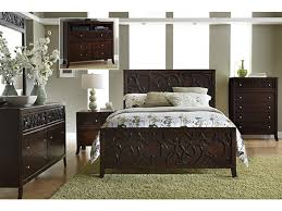 links 5pc panel bedroom set headboard footboard rails dresser