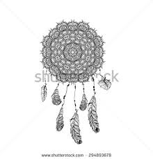 indian dream catcher sketch style vector stock vector 294808532
