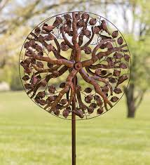 Garden Metal Art Tree Of Life Wind Spinner Wind Spinners Wind U0026 Weather