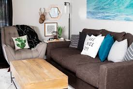 mix and match family room corner for fall