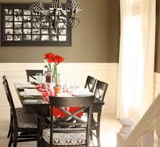 nickel chrome pendant lamp white cotton dining chairs black