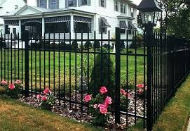iron garden fence solid wrought iron metal garden fence panels and