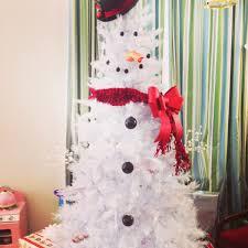 kandeej how to make a snowman tree