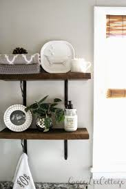 Rustic Bathroom Walls - grace lee cottage diy rustic bathroom shelves