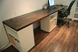 long computer desk for two your own computer desk