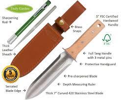 How To Sharpen Serrated Kitchen Knives Amazon Com Hori Hori Garden Knife With Free Diamond Sharpening