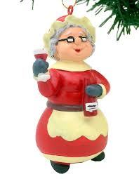 tree buddees wine mrs claus ornament