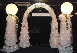 wedding arches and columns balloon sculptures weddings