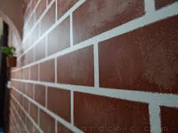 r u d e u0026 c h i c diy decor faux painted brick wall