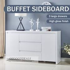 White Gloss Sideboard Cheap White Sideboards And Buffets Ebay