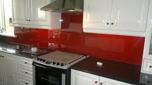 Red Black White Kitchen - interesting white kitchen red splashback latest hia award s inside