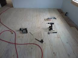 How To Install Hardwood Floors On Concrete Without Glue - low budget diy plywood plank floors part 2 diydork com