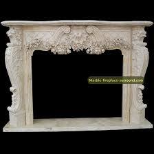 Travertine Fireplace Hearth - granite fireplace hearth floral foliage versailles style
