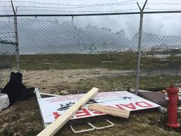 caribbean island of st maarten destroyed by hurricane irma