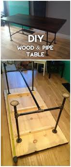 wood and pipe table 40 easy diy tables that you can build on a budget