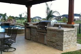 outdoor kitchen designs with pool home round