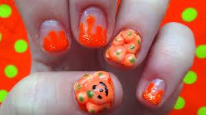 pumpkin patch nails 3d acrylic halloween nail art youtube