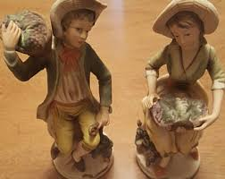 Home Interiors Figurines by Pair Of Figurines Etsy