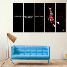 5 pcs for michael jordan large seaview with frame canvas print