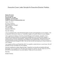 Executive Resume Cover Letter Examples by Executive Resume Cover Letter Sample Free Resume Example And