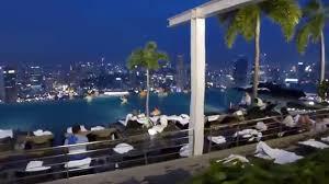 singapore marina bay sands skypark u0026 infinity pool at night hd